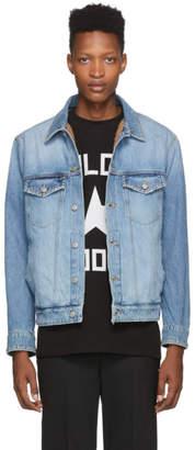 Golden Goose Blue Denim Wool-Lined Jacket