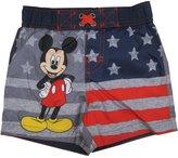Disney Baby Boys American Flag Mickey Mouse Swim Shorts 24M