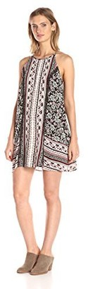 Taylor & Sage Women's Twin Print High Neck Dress