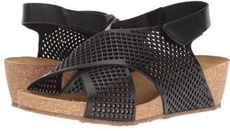 Eric Michael August Wedge Sandal (Black) Women's Shoes