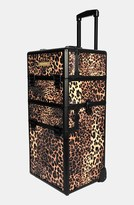 NYX Leopard Cosmetics Train Case