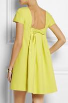 Cutout wool and silk-crepe dress