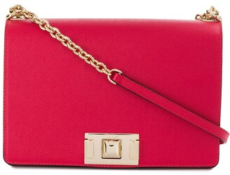 Furla square clasp shoulder bag