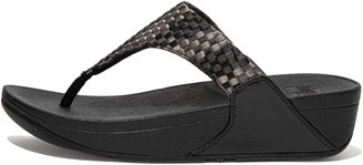 FitFlop Lulu Silky-Weave Toe-Post Sandals