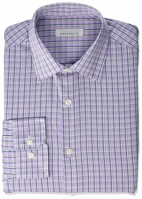 Perry Ellis Men's Modern Fit Spread Collar Dress Shirt