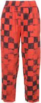 Raquel Allegra check print cropped trousers