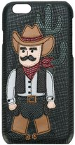 Dolce & Gabbana Cowboy patch iPhone 6 case - men - Leather - One Size