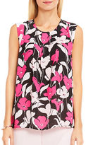 Vince Camuto Petite Floral Printed Wave Blouse