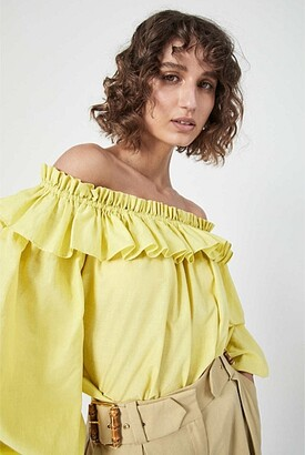 Witchery Ruffle Off Shoulder Blouse