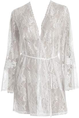 Jonquil Sutton Lace Wrap Robe