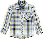 Petit Lem Yellow & Blue Plaid Button-Up - Toddler & Boys