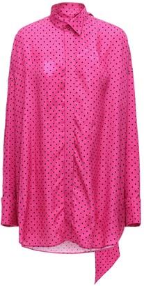 Balenciaga Mini Dots Viscose Jacquard Shirt