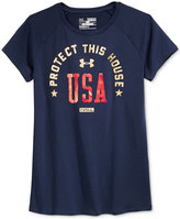 Under Armour Girls' Graphic-Print T-Shirt
