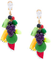 Venessa Arizaga fruit clip-on earrings