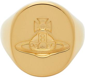 Vivienne Westwood Gold Orb Seal Ring