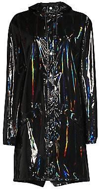Rains Women's Holographic Rain Coat