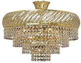 TitaniaLux 308000006 Chandelier, Crystal, Polished Brass, E14, 40 W