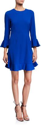 Jill Stuart Long-Sleeve Ruffle Dress