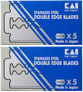 Smallflower Kai Stainless D.E. Blades (10 pack) by Kai Razors (10blades Razor Blades)