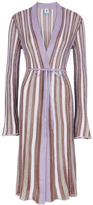 M Missoni Striped metallic-weave cardigan