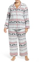 BedHead Plus Size Women's Print Stretch Cotton Pajamas
