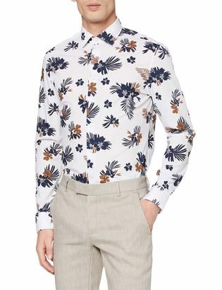 Seidensticker Men's Floral Bedrucktes Hemd Mit Kent-Kragen Slim Fit Langarm Paisley Formal Shirt
