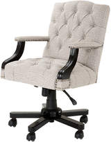 Eichholtz Burchell Desk Chair Brown & White