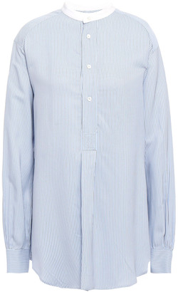 Masscob Poitier Pinstriped Broadcloth Shirt
