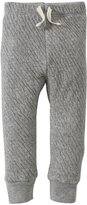 Burt's Bees Baby Quilted Drawstring Pants (Baby) - Gray-3-6 Months