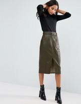 MinkPink Deputy Pu Midi Skirt