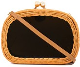 Serpui Marie wicker clutch bag