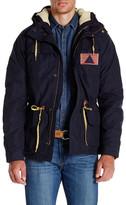 Scotch & Soda Fleece Lined Longline 2-in-1 Jacket