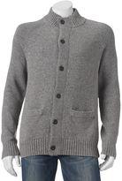 Men's SONOMA Goods for LifeTM Mockneck Cardigan Sweater