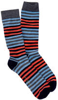 Ted Baker Multicolored Striped Crew Socks