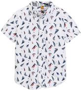 Tailor Vintage Short Sleeve Sailboat Print Shirt (Little Boys & Big Boys)