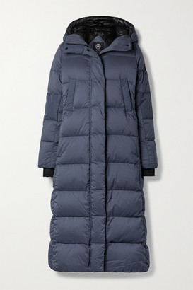 Canada Goose Alliston Hooded Quilted Ripstop Down Coat - Storm blue