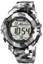 Calypso Men's Digital Watch with LCD Dial Digital Display and Multicolour Plastic Strap K5681/1