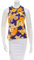 Carven Sleeveless Floral Print Top w/ Tags