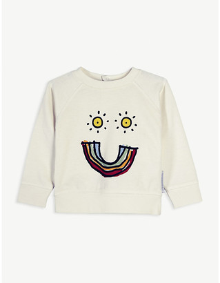 Stella McCartney Rainbow-print cotton jumper 6-36 months