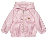 Gucci Infant Girl's Logo Jacquard Hooded Nylon Jacket