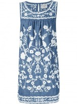 Sea embroidered sleeveless dress