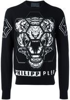 Philipp Plein Polite sweatshirt - men - Cotton/Polyester/Viscose - M