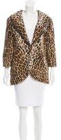 Elizabeth and James Faux Fur Leopard Print Jacket w/ Tags