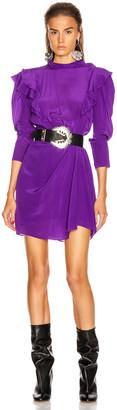 Etoile Isabel Marant Yoana Dress in Purple | FWRD