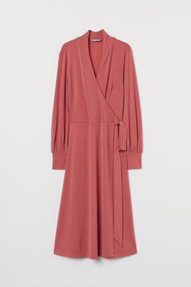 H&M Calf-length Wrap Dress