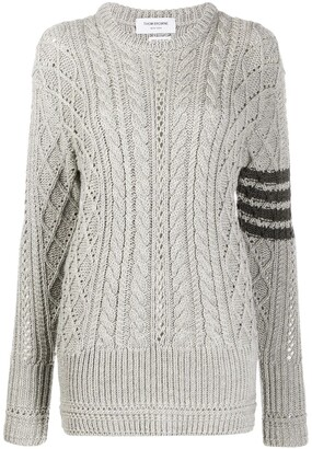 Thom Browne 4-Bar Cable Knit Jumper
