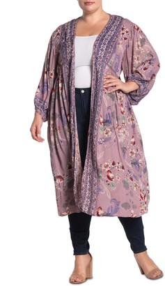 Angie Floral Paisley Kimono Duster (Plus Size)