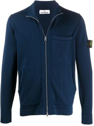 Stone Island Patch-Pocket Zip-Through Sweatshirt