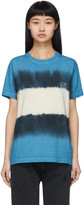 Off-White Off White Blue and White Tie-Dye Skinny Arrows T-Shirt