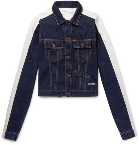 Off-White Striped Denim Jacket
